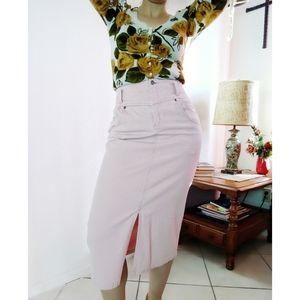 Vintage High Waisted Corduroy Skirt